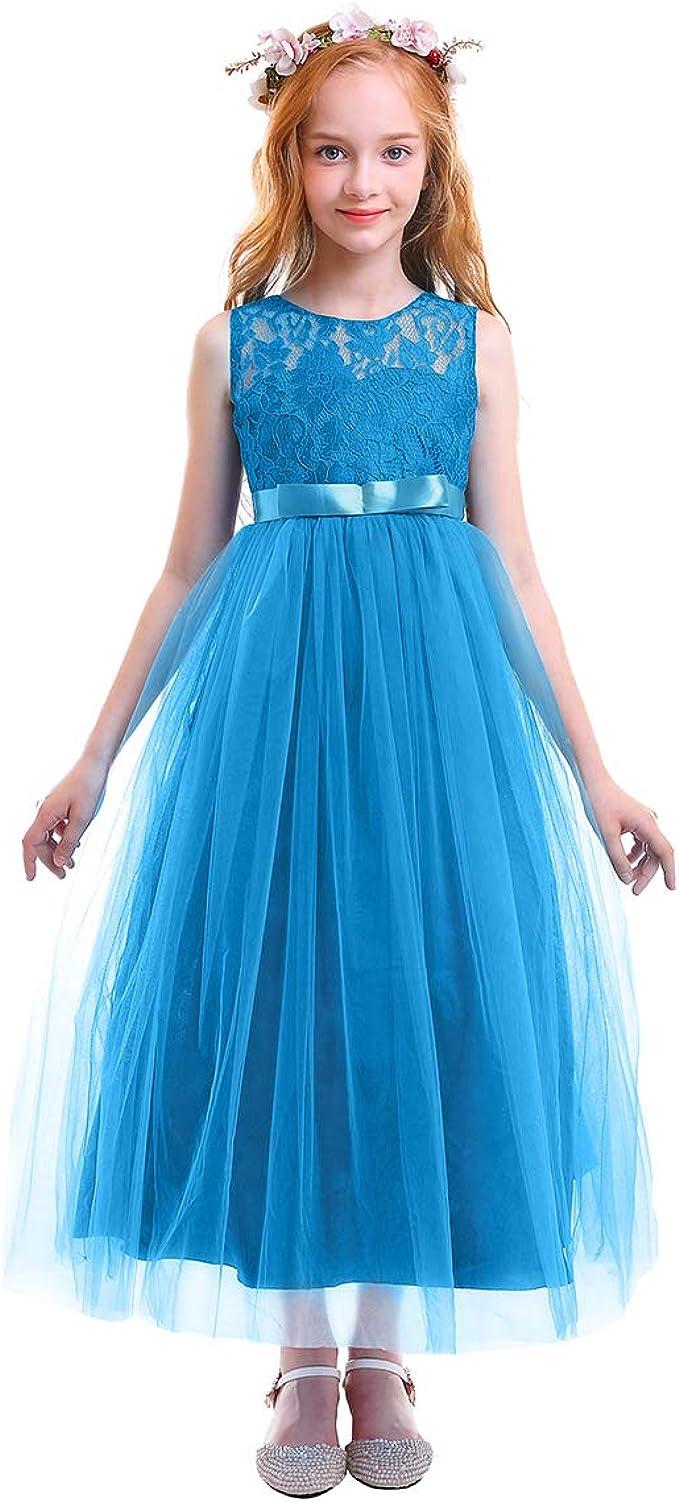 Kinder Abendkleider Mädchen Festlich Elegant Kleid Rock Blume