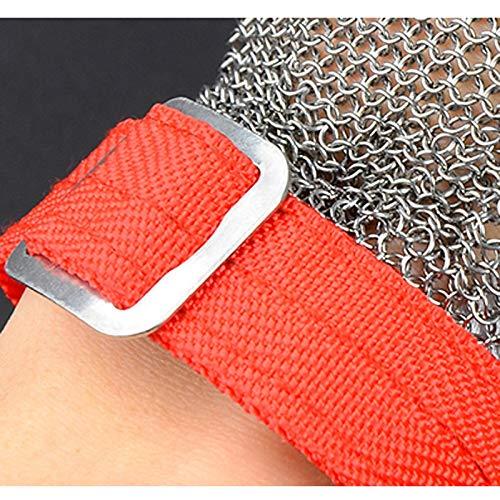 orange schneidet Handschuhe Size : 9-9.5cm/×19-20cm die Schutzhandschuhe grau LWBUKK Schnittschutzhandschuhe Metallmaterial Metallhandschuhe Kettens/äge