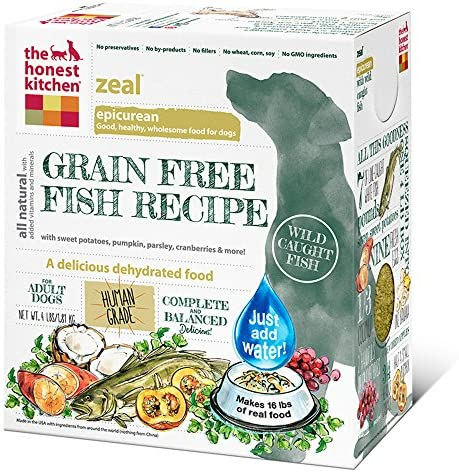 Honest Kitchen Zeal Grain Free White Fish Dog Food 4 Pound