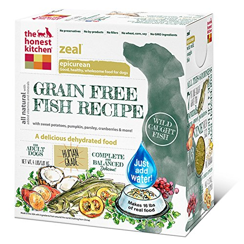 The Honest Kitchen Grain Free Fish Dog Food Recipe, 4lb box