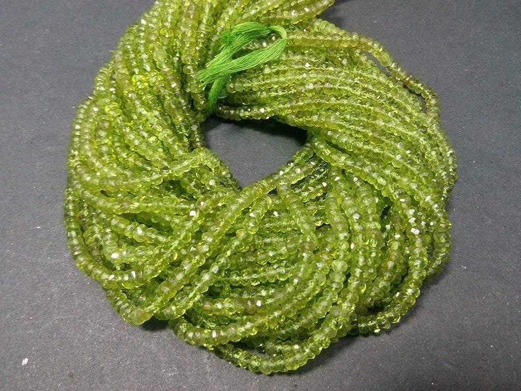 2 mm naturel /à facettes Peridot perles en vrac de pierres pr/écieuses semi pr/écieuse pour la fabrication de bijoux boucle doreille collier bracelet