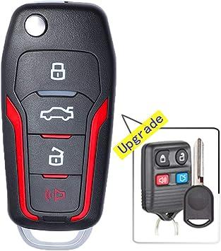 Pack of 2 KeylessOption Keyless Entry Car Remote Uncut Ignition Flip Key Fob for Ford Lincoln Mercury CWTWB1U345