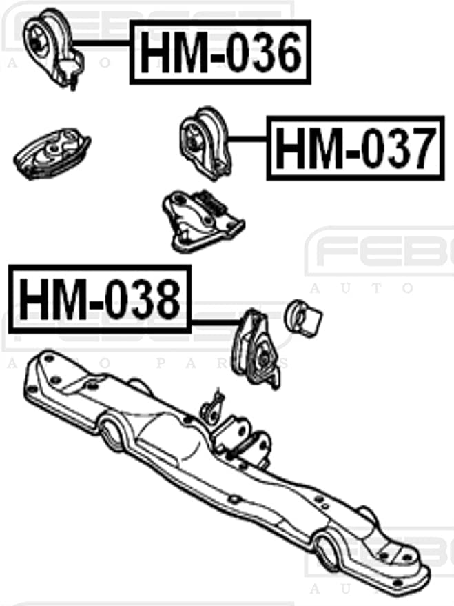 HM-038 Febest FRONT ENGINE MOUNT MT