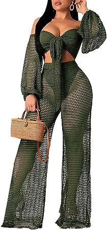 emerald green openwork pants