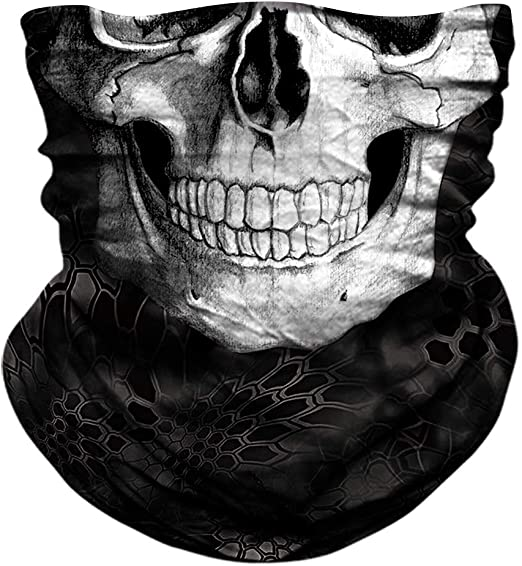Amazon Com Joeyoung Skull Face Mask Uv Sun Mask Dust Neck Gaiter