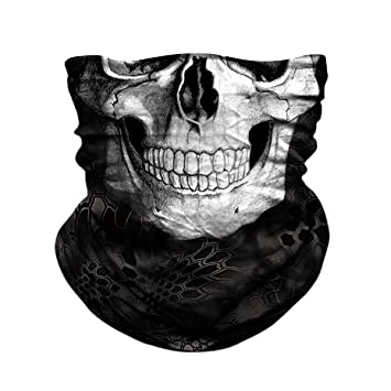 906467fae68f7 JOEYOUNG Skull Face Mask - UV Sun Mask Dust Wind Neck Gaiter, Half Face  Mask for Motorcycle Riding Skeleton Bandana, Seamless Headwear Tube Mask  for ...