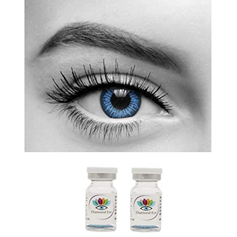 f96f9e4beeb Buy Diamond Eye Yearly BLUE Colored Contact Lenses 0 Power By T R Lens  Online at Low Prices in India - Amazon.in