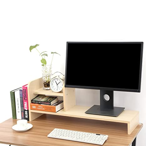Neck Protective Laptop Computer Storage Racks Shelves Wooden Office Desk Computer Racks And Storage Rack Shelves Home & Garden