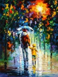 Rainy Walk With Daddy is a Limited Edition print from the Edition of 400. The artwork is a hand-embellished, signed and numbered Giclee on Unstretched Canvas by Leonid Afremov. Embellishment on each of these pieces will be slightly different, but the...