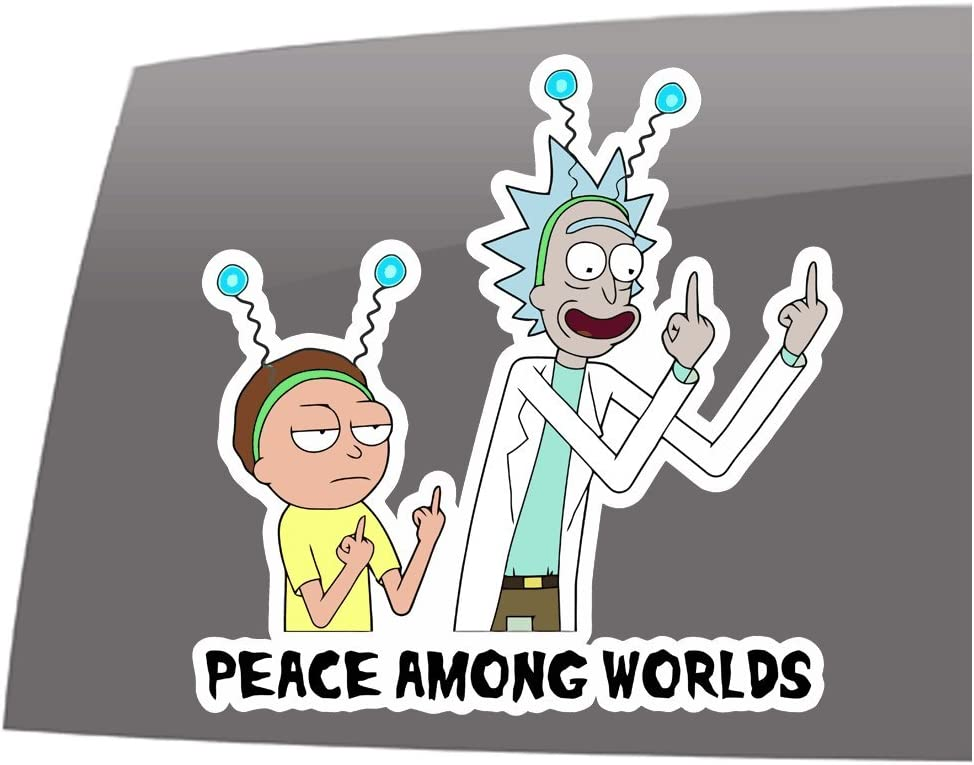 Rick and Morty Officially Licensed Sticker Decal Cartoon Funny
