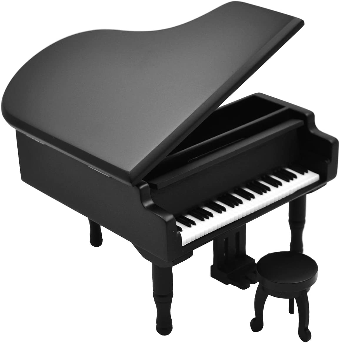 Piano Model Music Box for Music lover Christmas gift (Black-Piano)