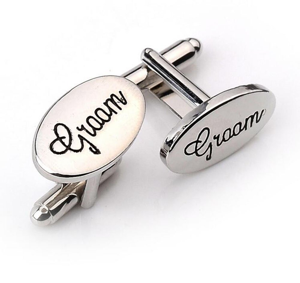 Hosaire 1 Pair Fashion Groom Cufflinks Men's Fashion Shirt Cufflinks Business Wedding Cufflinks Gift Present