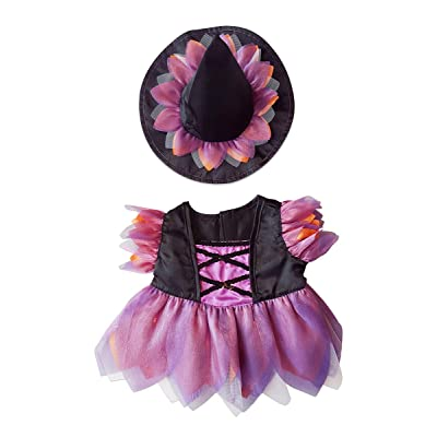"Halloween Witch Costume Teddy Bear Clothes Outfit Fits Most 14"" - 18"" Build-A-Bear and Make Your Own Stuffed Animals: Toys & Games"