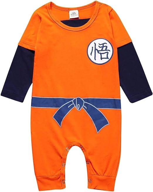Askong Dragon Ball Z Son Goku Kostum Mit Langem Arm Fur Babys Jungen Strampler Fur Halloween Cosplay Fur 3 Monate 3 Jahre Gr 6 12 Monate Orange Amazon De Bekleidung