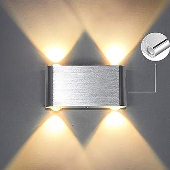Louvra Apliques de Pared Lámpara de Pared de Puro Aluminio 4 LED ...
