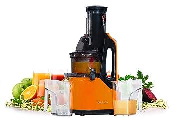Oursson JM7002/OR - Extractor de Zumo de Frutas y Verduras Vitality, Motor de Inducción, 1 Litro, 240 Vatios, Color Naranja: Amazon.es: Hogar