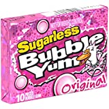 BUBBLE YUM Sugarless Gum, Original, 10-Piece Packages (Pack of 12) (Halloween Candy)