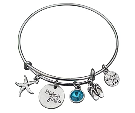 99fb7f630e0 Amazon.com: Infinity Collection Life is Better at The Beach Bracelet, Beach  Jewelry, Gift for Beach Girls: Jewelry
