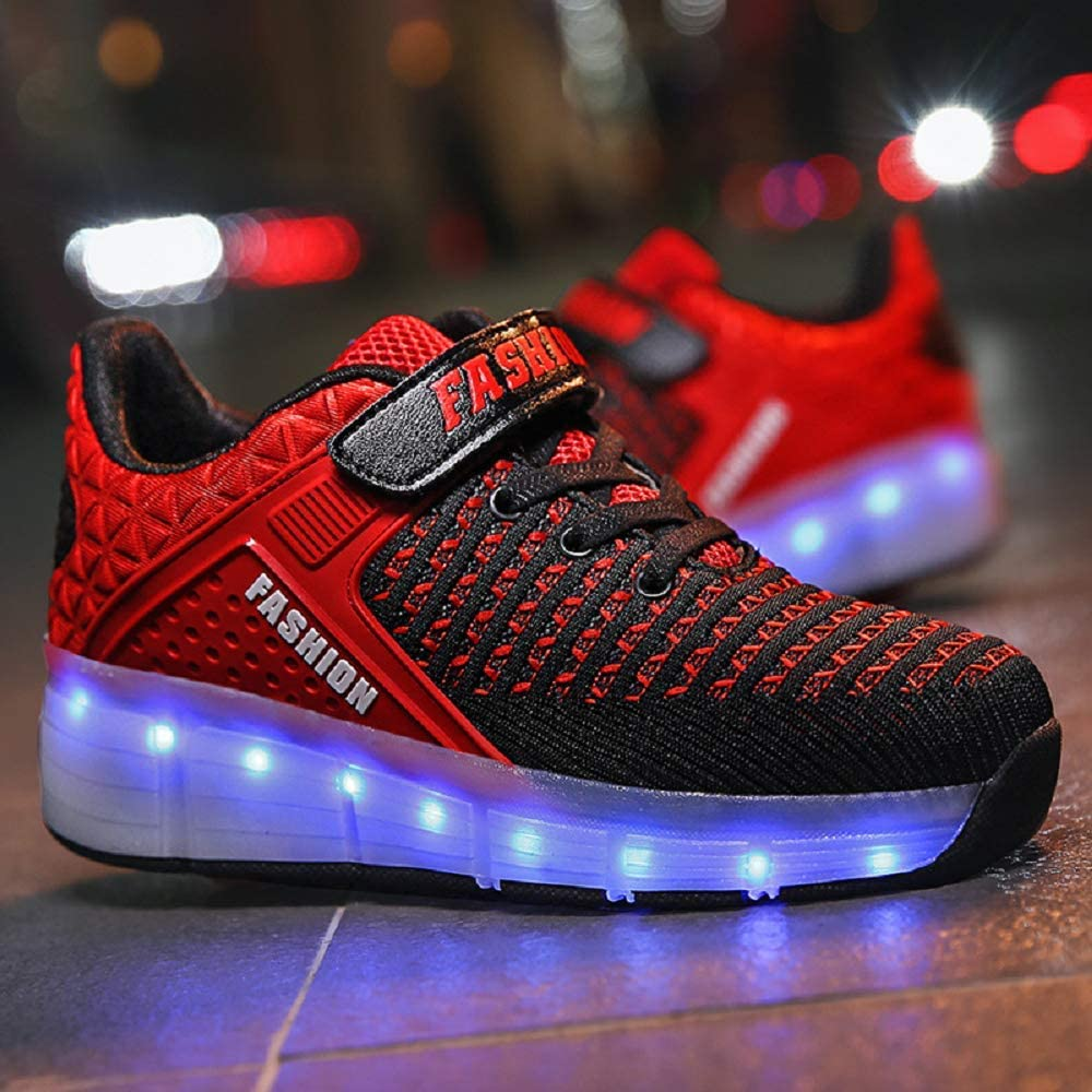SDSPEED 7 Colors LED Rechargeable Kids Roller Skate Shoes - 4