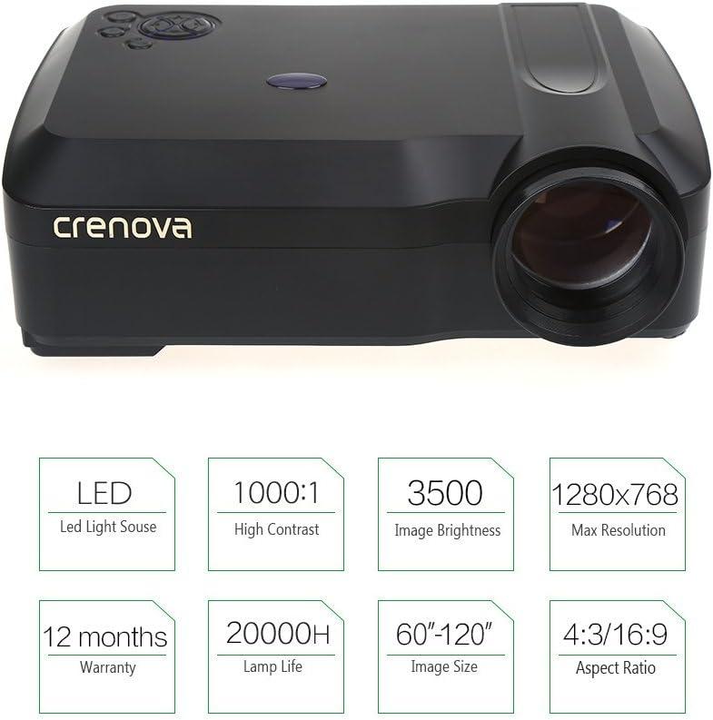Crenova XPE650 Proyector HD 3500 Lúmenes Resolución 1280*768 ...