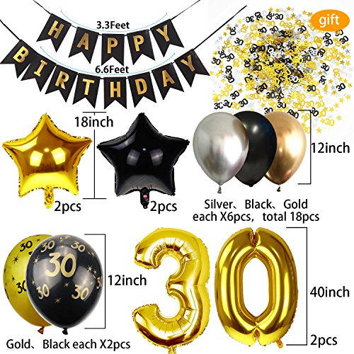 30th Birthday Decorations For Men Party Supplies Dirty Thirty Him Decor Kit
