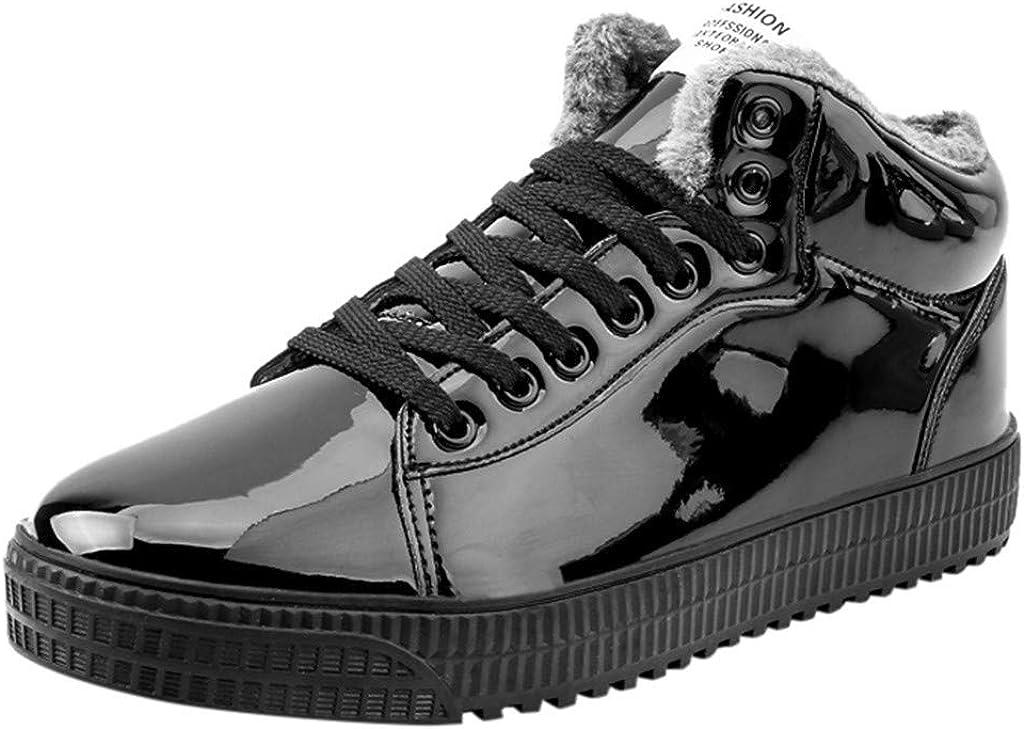 DAIFINEY Herren Modetrend Sneaker Warm Gefütterte Pailletten