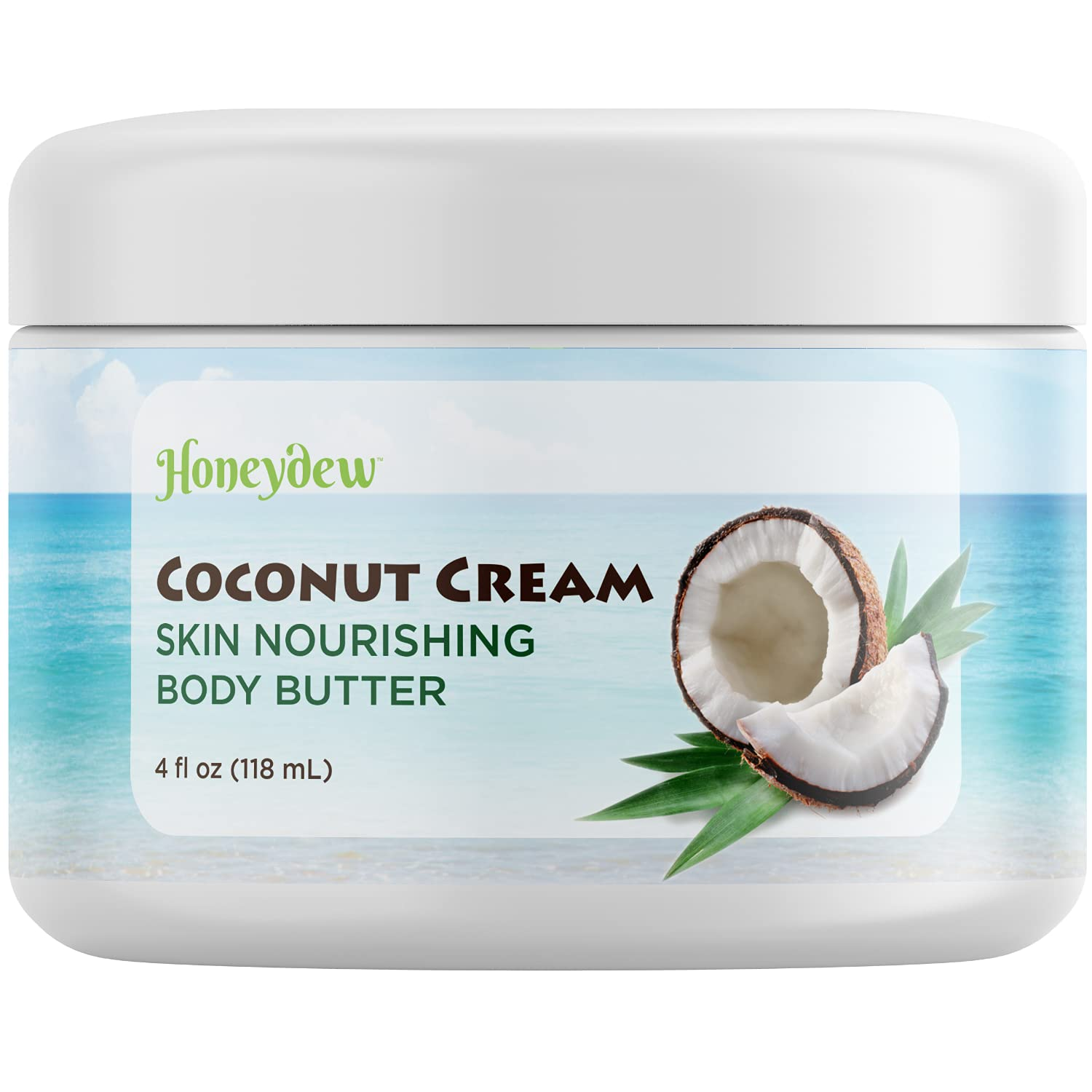 Coconut Oil Moisturizing Body Butter - Body Cream for Stretch Marks Scar Cream and Anti Aging Cream for Men and Women with Rosehip and Jojoba Oil - Hydrating Anti Aging Moisturizer for Dry Skin Care