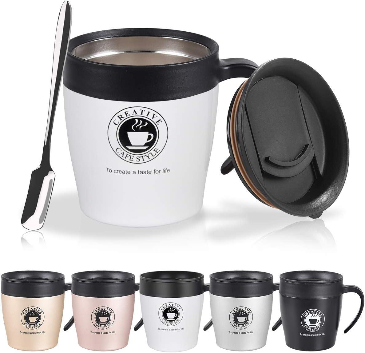 NUOSEM 330ml Termo de café para Llevar con cucharita de Cafe y ...