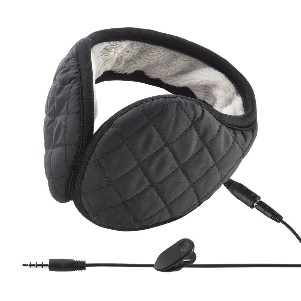 イーサプライ  EEX-HPEM01BK。有線ですが、コードにクリップが付いているので、服などに留めることができます。