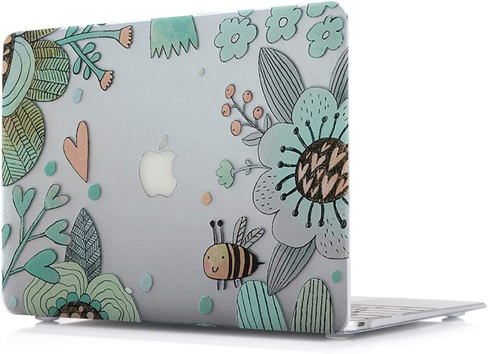 "MacBook Pro New 13 Inch Case - Plastic Laptop Accessories Protective Pattern Printing Design Hard Cover for Apple MacBook Pro New 13"" (Retina Display) with/Out Touch Bar Model A1706/A1708,Bee"
