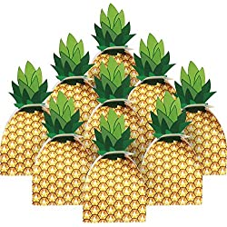 36pcs Pineapple Favors Boxes 3D Large Pineapple Gifts Boxes for Hawaiian Luau Party and Tropical Party, Pineapple Party Decoration (Pineapple)