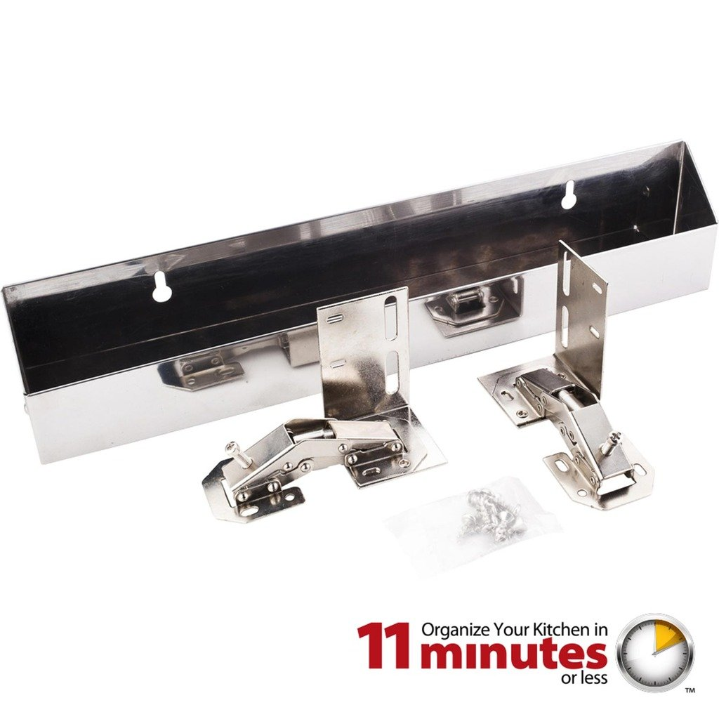 Hardware Resources TOSS14S-R Shallow Sink Tipout Tray Pack, Stainless Steel