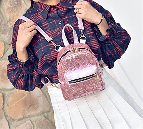 Purple Sequin Backpack Fashion Girls Travel For Crossbody Nodykka Shoulder Handbags Bag Women Mini Purse Odqqx8Y