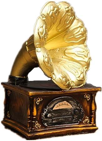 WJSW Tocadiscos Estatua Resina Vintage Modelo Escultura Obra ...