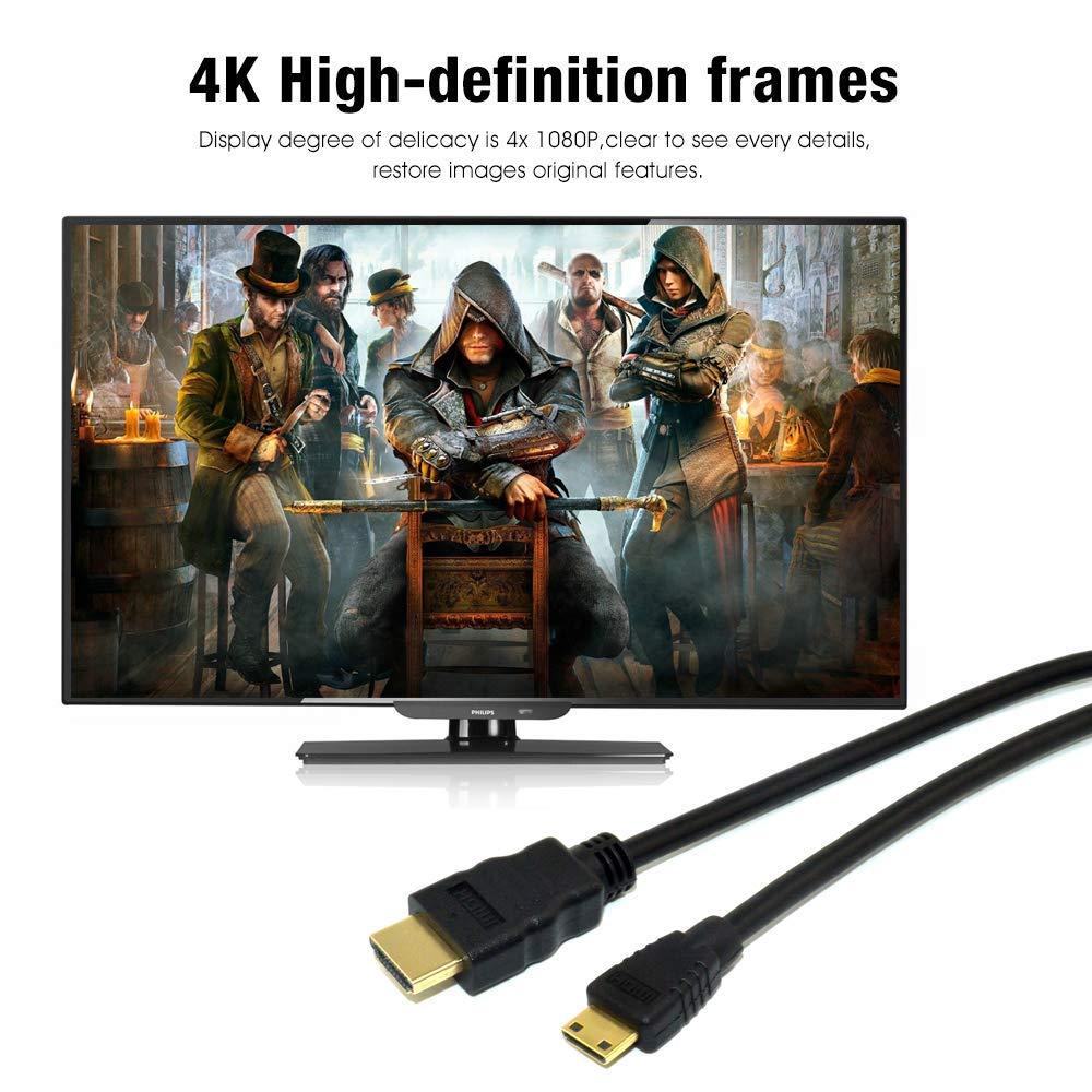 AlyKets - Cable HDMI a Mini HDMI para cámara Nikon D3500 ...