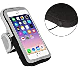 Sports Armband Sweatproof Running Phone Holder for iphone 7 Plus 6 Plus 6s Plus (5.5-Inch) Samsung Galaxy Note 5 4 3 Note Edge S5 S6 S7 Edge Plus, with Adjustable Size and Double Deck for Keys/Credit Card/ID Card/Small Money (black)