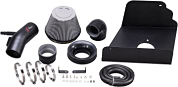 R/&L Racing AF Dynamic Black Air Filter Intake Systems 2015-2016 GMC Canyon 3.6L V6 Chevy Colorado 3.6L V6 with Heat Shield