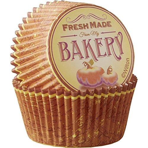 wilton orange cupcake liners - 4