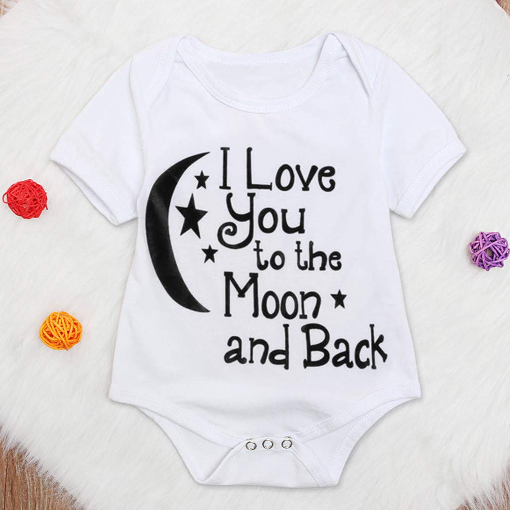 Toddler Kids Letter Print Tops Bodysuit - Romper Sunsuit Baby Girl Boy Clothes,2019 New by SUNSEE WOMEN'S CLOTHES PROMOTION (Image #2)