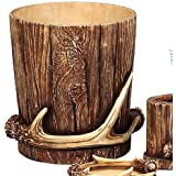 Buck Mountain Antler Waste Basket