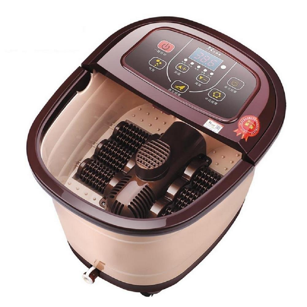 WE&ZHE Massage Foot Bath Therapy Foot Spa Fully-Automatic Foot Massage Bucket Heated Electric Footbath SPA