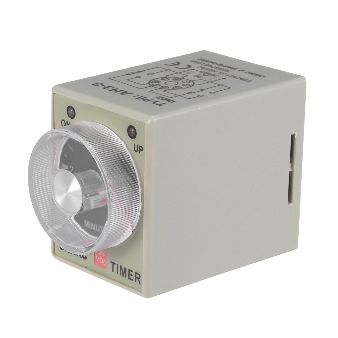 uxcell DC24V 30S 8 Terminals Range Adjustable Delay Timer Time Relay AH3-3 with Base a18031500ux0187
