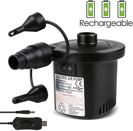 Amazon.com: Deeplee Bomba de aire eléctrica, inflador ...