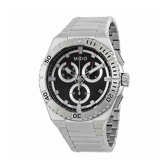 Mido Ocean Star Captain Reloj de Hombre Cuarzo 44mm de Acero M023.417.11.051.00: Amazon.es: Relojes