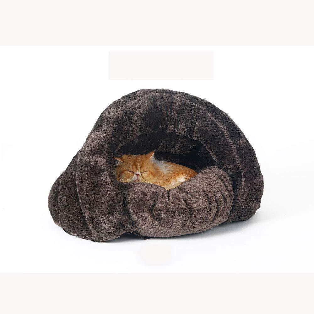 CHONGWU Inverno Domestico della casa del Gatto del Gattino del Sacco a Pelo del Gatto del Sacco a Pelo di Sonno Profondo dei Letti di Gatto dell'attrezzatura per Animali Domestici