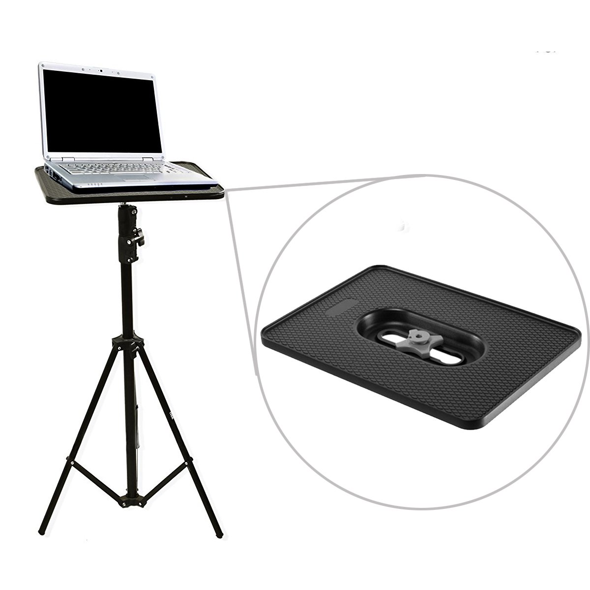 Selens Universal Tripod Laptop Computer Tray Holder Platform for Small Monitors/Projectors/Tablets, Compatible with 1/4 inch 3/8 inch Screw Light Stand, Camera Tripod by Selens