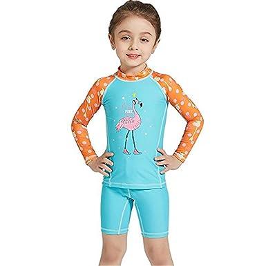 7a932c746c3b5 FAIRYRAIN Baby Kids Girls Boys Two Piece Sun Protection Long Sleeve Rash  Guard Tankini Sets Swimsuit Swimwear UPF 50 for Surfing Diving Sailing: ...