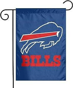 Fantastic Tees Buffalo_B-ills Garden Flag, Printing Thick Flag Banner, Garden Yard Lawn Outdoor Decoration 12x18 Inch