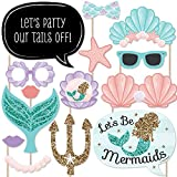 Kyпить Let's Be Mermaids - Baby Shower or Birthday Party Photo Booth Props Kit - 20 Count на Amazon.com