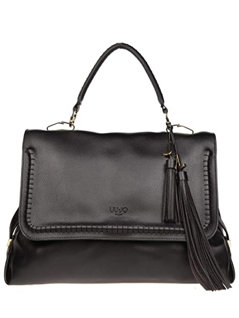 BORSA DONNA LIU JO L TOP HANDLE MOSCOVA NERO A68012 218  Amazon.it  Scarpe  e borse d10906e7bd8